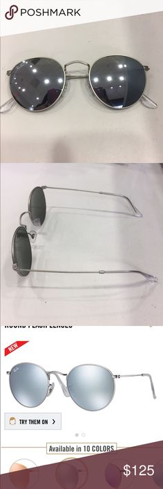 RayBan Silver Flash Rounds 30% OFF ORIGINAL PRICE!!!! YOU SAVE $50!!! Never been worn before! Will come with black RayBan case! Originally $175 plus tax Ray-Ban Accessories Sunglasses