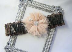 Brown Toss Mossy Oak CAMOUFLAGE wedding garter Deer Camo garters on Etsy, $16.00 for my honey :)