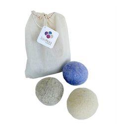 LooHoo Reusable All-Natural Wool Dryer Balls Set of 3