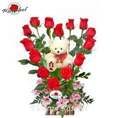 Arreglos De Rosas Para San Valentin   de_san_valentin_arreglo_floral_de_rosas_en_forma_de_corazon_corazon_de ...