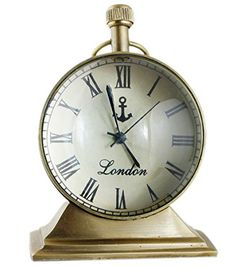 Style Antique Retro Vintage-Inspired Brass Metal Craft Table Clock Home Decor - 2.5 Inch RoyaltyLane http://www.amazon.com/dp/B01C6YBX9O/ref=cm_sw_r_pi_dp_rpN3wb1VN6SAJ