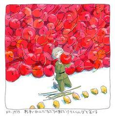 話題のイラストレーター 今日マチ子著「いちご戦争」の鮮やかな絵に隠されている意味とは…の画像