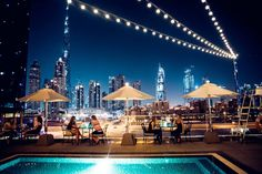 Looking for the best ladies night deals in Dubai? From free drinks to foodie deals, here are 7 ladies nights in Dubai you need to know about Ladies Night Dubai, Night Club, Night Life, Dubai Nightlife, Pool Bar, United Arab Emirates, Marina Bay Sands, City, Photography