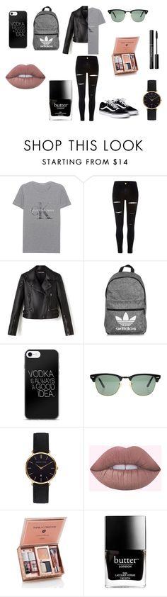 """Boyfriend Tshirt"" by ghetaudorina on Polyvore featuring Calvin Klein Jeans, River Island, adidas, Ray-Ban, Abbott Lyon and Butter London"