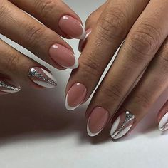 Stunning wedding day nails