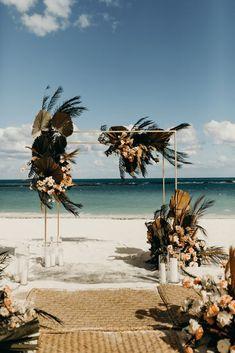 Destination Wedding Decor, Tropical Wedding Decor, Boho Beach Wedding, Beach Wedding Reception, Beach Wedding Inspiration, Beach Ceremony, Tree Wedding, Beach Wedding Decorations, Wedding Bride