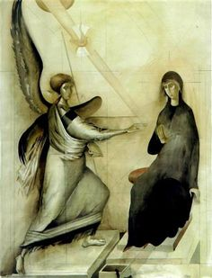 The Annunciation (Study 4) - Sorin Dumitrescu - WikiArt.org