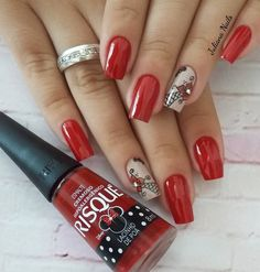 Best Nail Art Designs 2018 Every Girls Will Love These trendy Nails ideas would gain you amazing compliments. Best Nail Art Designs, Beautiful Nail Designs, Beautiful Patterns, Easy Nail Art, Cool Nail Art, Christmas Nail Art, French Nails, Red Nails, Nail Arts