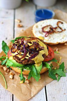 Vegan Lentil Burger #vegan #glutenfree www.contentednesscooking.com