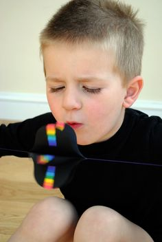 Rainbow makers - too hard for young kids to make but pretty cool for them to spin and see the rainbow effect!