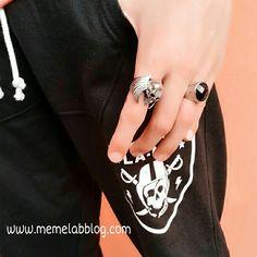Crea il tuo stile rock Con la nuova collezione Anelli ♥  Per informazioni acquisti  www.memelabblog.com