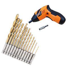 Worldwide Store Newest Durable 13pcs/Set Hex Drill Bit Set Multi Bits Tool 1.5-6.5mm DIY