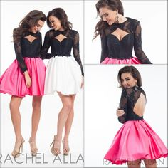 Corset Dress Rachel Allan Long Sleeves Homecoming Dresses 2016 Short Pretty Satin With Lace Crew Neck Knee Length A Line Hollow Cocktail Party Dress Gown Dress Online Shop From Weddingdressesonline, $98.61| Dhgate.Com
