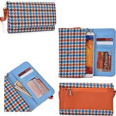 Phone wallet cell phone holder with wrist strap for Gigabyte GSmart Mika MX
