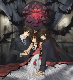 Kuran father, yuki and kaname Art Vampire, Vampire Love, Vampire Hunter, Vampire Animes, Art Koi, Yuki And Kaname, Vampire Knight Zero, Art Adventure Time, Light Novel