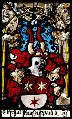 Wappen Erbach, Erbach (Hessen), Schloss, Rittersaal, 1543.