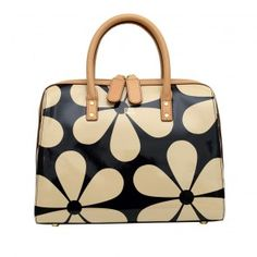 Orla Kiely Snowdrop Printed Patent Leather Peggy Bag In Marble Keily Hand Bags