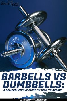 Free weights are often regarded as the most effective way of building muscle and improving your overall fitness. But what kind of free weights should you use? Should you primarily use barbell exercises or dumbbell exercises in your training? Should you mix them? Take an In-depth Idea of the most effective way of building muscle and improving your overall fitness. #barbells #dumbbells