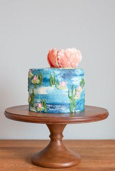 Water Lilies Buttercream Iced Cake | Erin Gardner | Craftsy