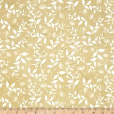 Songbird Dandelions & Leaves Dark Ecru from @fabricdotcom  Designed by Jenelle Kent for Studio E Fabrics, this cotton print fabric adds a bit of whimsy to the leaves blowing in the wind with delicate dandelions. Perfect for quilting, apparel and home decor accents. Colors include white, beige and taupe.