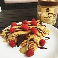 #coconut #pancakes with #sesamebutter  Kokosowe #naleśniki z masłem sezamowym  #śniadanie #fit #instafit #instagood #gymaddict #foodporn #motywacja#motivation #gym #fitnessmotivation #diet #dieta #przepis #przepisy #homemade #dessert #fitness #picoftheday #rapsberry #chocolate #fitspiration #gymlife #dessert #trecnutrition #deser #breakfast @kierunek_fitness @trecnutrition