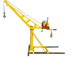 The best advantage of mini construction cranes is that the winching part changes the disadvantage of the short lifespan of the turbine reducer to make the electromagnetic braking motor much more powerful. Box Trailer, Trailer Build, Construction Lift, Crane Lift, Gantry Crane, Welding Table, Garage Workshop, Modular Homes, Garage Organization