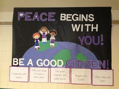 Citizenship Bulletin Board. Goes with our Citizenship focus and upcoming Pinwheels for Peace project