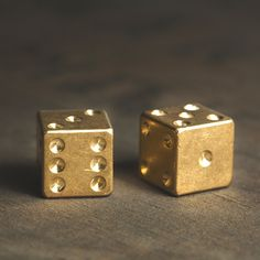 If you want to add some machine shop style to your next dice game, this is the perfect way to do so. Each of these sets of solid brass dice were machined in the Playing Dice, Gold Aesthetic, Touch Of Gold, Game Pieces, Iphone, Solid Brass, Metal Working, Gift Guide, Stencil