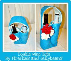 Double Wine Tote Pattern by funkyjoy on Etsy, $5.00