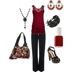 T.J., created by medeak on Polyvore  The purse is growing on me.....