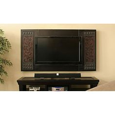 @Overstock - Add a touch of elegance to your living room by surrounding your favorite television with this ornate decorative panel. The panels are easy to install around any flat screen hung on a wall. Mounting materials are included for quick installation.http://www.overstock.com/Home-Garden/CustomHouse-Cabinetry-Decorative-40-to-48-inch-TV-Panels/4732037/product.html?CID=214117 $112.23