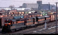 A Great Northern freight passing Northtown yard in Fridley MN in Great Northern Railroad, Burlington Northern, St Cloud, Photo Today, Model Train Layouts, Model Trains, West Coast, Clouds, Minneapolis