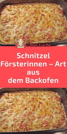 Schnitzel Försterinnen – Art aus dem Backofen Pampered Chef, Finger Foods, Macaroni And Cheese, Brunch, Food And Drink, Low Carb, Cooking Recipes, Snacks, Dinner