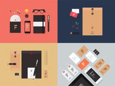 A collection of flat stationery mockups to create great presentations for your branding projects. Free PSD and AI released by Vlad Cristea.