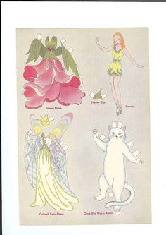 Fairy paper doll with disguises.  Jack and Jill - Ulla Dahlstedt - Picasa Web Albums