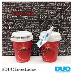 These 2 always looks great together on dates #DuoLovesLashes #DuoAdhesive  #MeantToBe