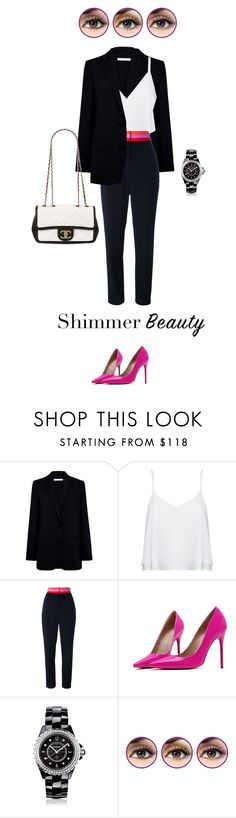 """Shimmer"" by fanfan-zheng ❤ liked on Polyvore featuring beauty, Atea Oceanie, Alice + Olivia, Roksanda, Posh Girl, Chanel and Physicians Formula"