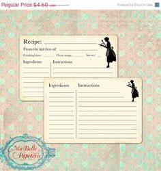 Recipe Card Template | Simple to Classy Downloads