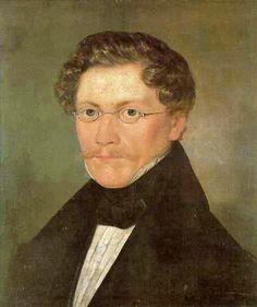 """Carl Spitzweg (1808-1885), eigentlich gelernter Apotheker, war ein Maler des Biedermeier und arbeitete ab 1844 auch für die Humorzeitung """"Fliegende Blätter"""". Dieses Selbstporträt stammt von 1840."""
