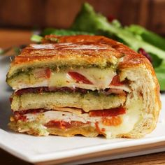 12 Layer Turkey Pesto Panini Bread Bowl Recipe by Tasty
