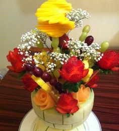 Arreglo frutal  Como hacer una ensalada de fruta para el día de las madres
