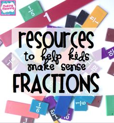 fraction lesson plans for the Common Core- equivalent fractions, comparing fractions, understanding fractions, mixed numbers and improper fractions, adding and subtracting fractions, multiplying fractions $