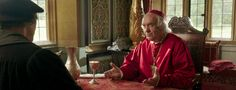 Cardinal Wolsey and Thomas Cromwell. The NEW SERIES WOLF HALL ON PBS explore their initial alliance. It starts out where Wolsey is stripped of his office in 1529(which I think is accurate) and it backtracks to 1527, in this scene where Cromwell and Wolsey discuss the King's demand for an annulment!