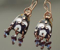 Boho handmade earrings. Hypoallergenic earrings. by CopperChic