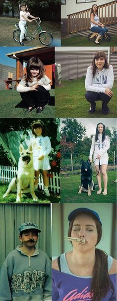 Recreating childhood photos :)