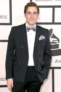 2014 Grammys: Red Carpet Arrivals- Kendall Schmidt.. i love a bow tie on a guy