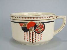 Chamber Pot by Boch Freres The final piece of the above listed ceramic wash set, made in Belgium in the late - early by the Boch 1920s Bedroom, Foot Baths, Potty Chair, Everyday Dishes, Feelings And Emotions, Roaring Twenties, Art Deco Period, Noritake, Eclectic Style