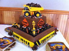 New birthday cake boys construction baby shower 40 ideas Baby Shower Desserts, Baby Shower Cakes, Baby Shower Themes, Baby Boy Shower, Shower Ideas, Baby Cakes, New Birthday Cake, Birthday Diy, Birthday Ideas