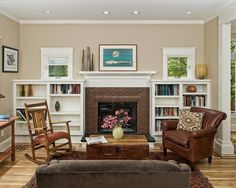 Queen Anne Four-Square Living Room Remodel