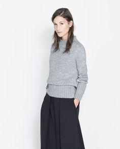 Image 3 of LONG CUFFED SWEATER from Zara